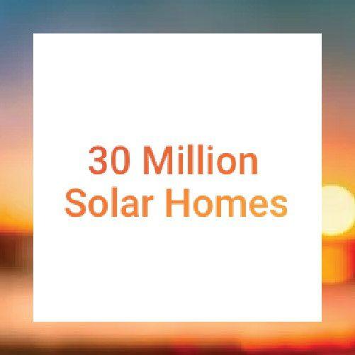 30 Million Solar Homes Logo Tile