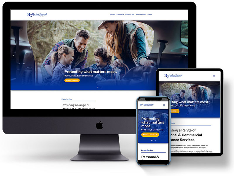 Harford General Insurance Agency - new website by Harford Designs