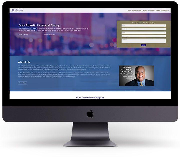 Mid-Atlantic Financial Group - Original website before Harford Designs