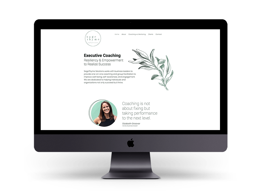 Phase 1 of Sage Thyme Solutions Website Mockup